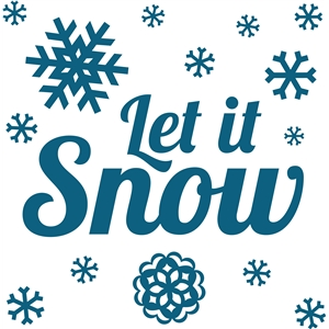 'let it snow' winter vinyl phrase