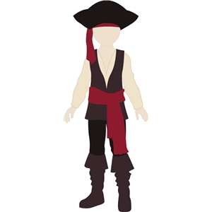 pirate costume for jacob doll