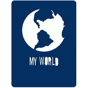 my world globe journaling card