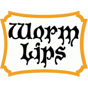 worm lips halloween treat label