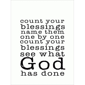 count your blessings name them one by one quote card