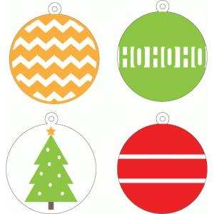 christmas layered tags
