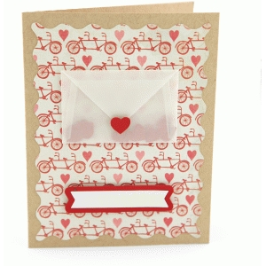 a2 envelope heart card