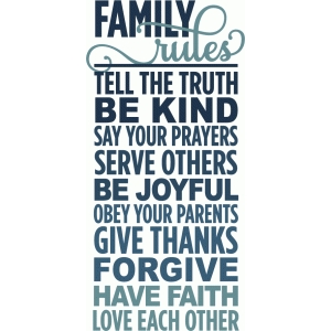family rules - layered phrase
