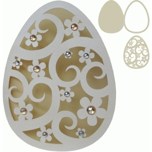 easter egg shape card