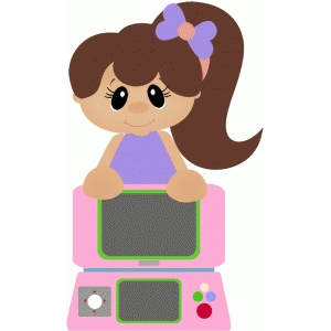 girl playing game system