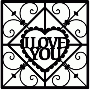 wrought iron valentine love you