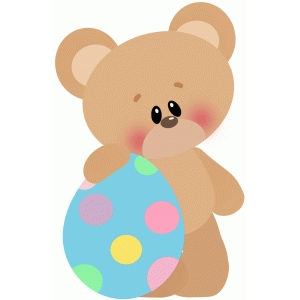 easter bear w large egg