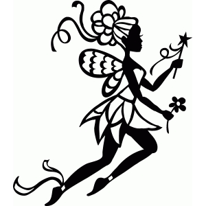 fancy spring fairy silhouette