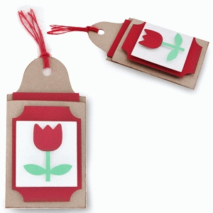 layered tulip gift card tag