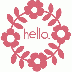 'hello' flower vine wreath