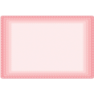 rounded corner stitched rectangles