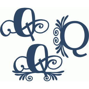 flourish monogram set - q