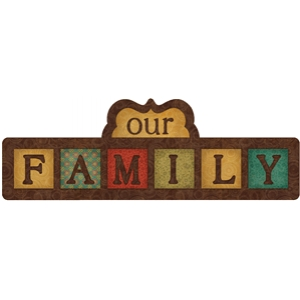 cute family sign