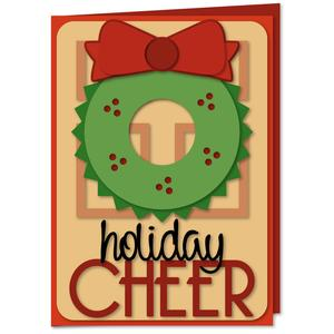 holiday cheer wreath door card