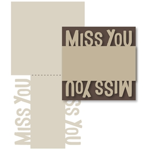 mirrored 'miss you' card