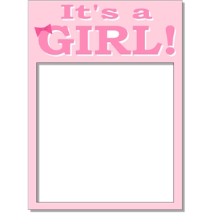it's a girl frame