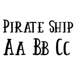 pirate ship font