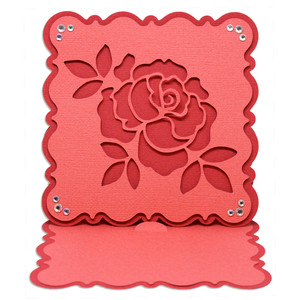 rose cut easel card