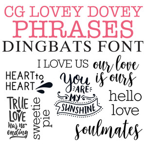 cg lovey dovey phrases dingbats
