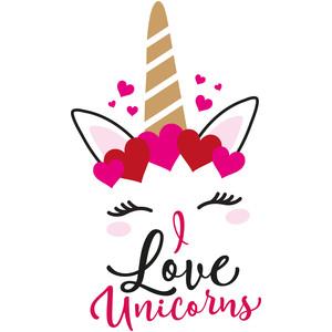 Silhouette design store view design 248905 i love unicorns for I love to design