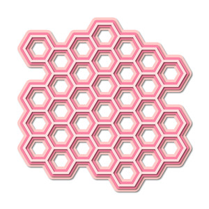 layered honeycomb background