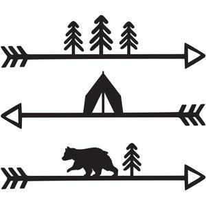 Silhouette Design Store - View Design #268505: camping arrows