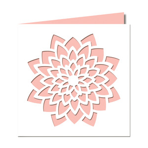 large flower cutout card