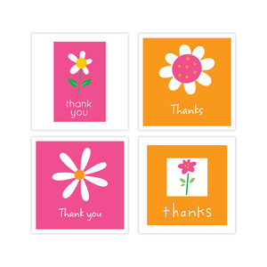 3 x 3 thank you cards