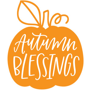 autumn blessings pumpkin
