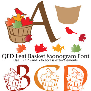 qfd leaf basket monogram font