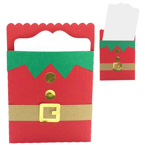 christmas elf suit card