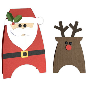 santa & reindeer table toppers