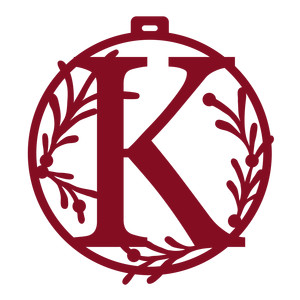christmas ornament monogram k