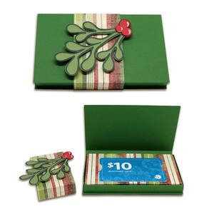 gift card box with holly