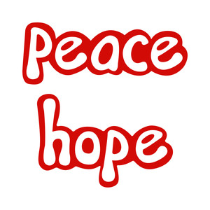 holiday words: peace & hope