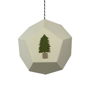 tree hexagon ornament
