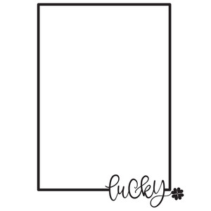 lucky rectangle frame