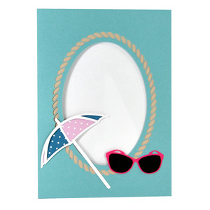 sunglasses umbrella summer beach frame with stand
