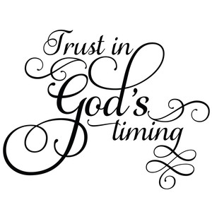 trust in god's timing