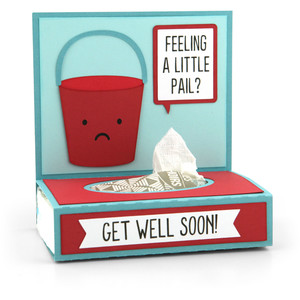get well tissue wrap pail