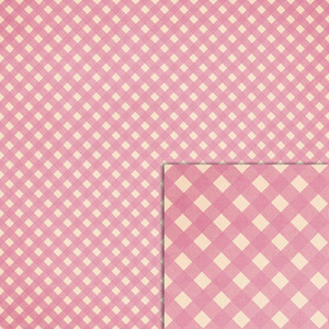 pink gingham background paper