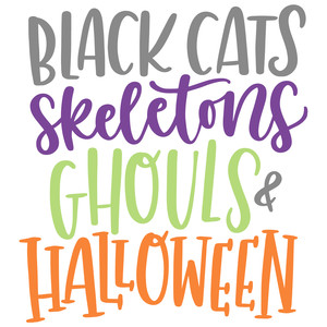 black cats halloween saying