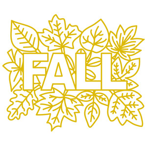 fall with leaves background