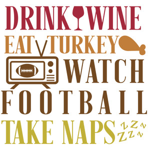 wine turkey football naps