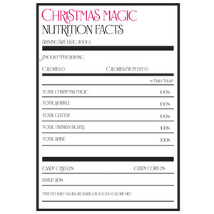 christmas magic nutrition label