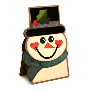 snowman twist pop up card