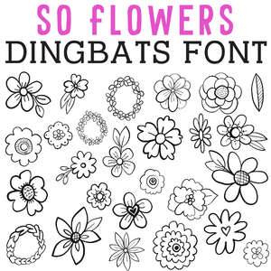 cg so flowers dingbats