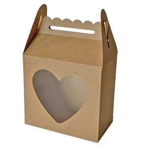scallop top heart window gable box