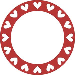love hearts circle frame